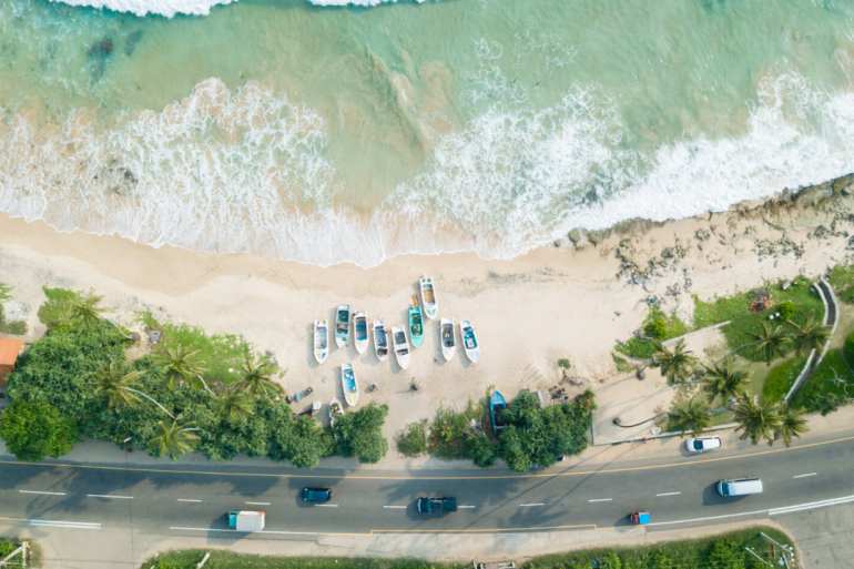 View of Haitian beaches
