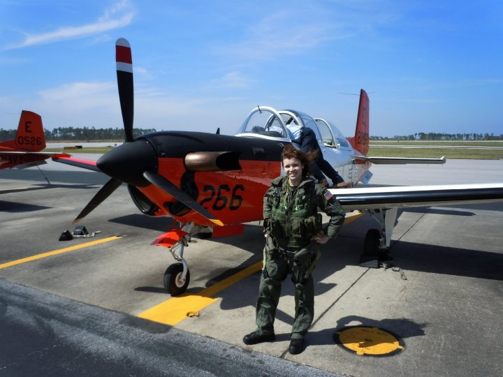 emily elmore, flying with us navy