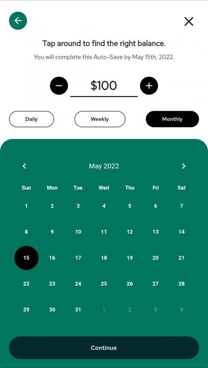 Auto-Save on the nav.it money app