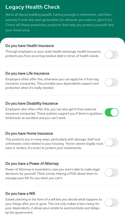 A Legacy Health Check inside the Nav.It money app. will help you secure wealth transference and generational wealth.